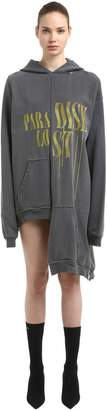 Hooded Maxi Cotton Sweatshirt