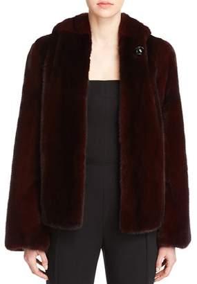 Maximilian Furs Hooded Mink Jacket