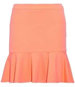 Roberto Cavalli Fluted Stretch-Cady Mini Skirt