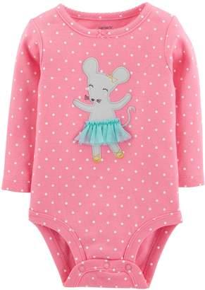 Carter's Baby Girl Polka-Dot Ballerina Mouse Bodysuit