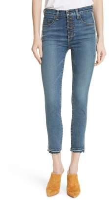 Veronica Beard Debbie Released Hem Skinny Jeans