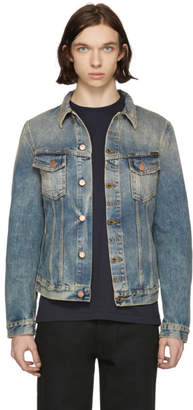 Nudie Jeans Indigo Denim Billy Shimmering Indigo Jacket
