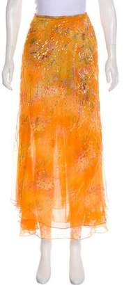 Oscar de la Renta Embellished Maxi Skirt