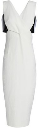 Rachel Gilbert Kader Cutout Two-Tone Crepe-Cloqué Dress