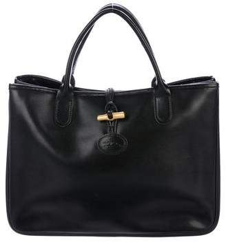 Longchamp Leather Roseau Tote