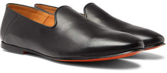 Officine Generale Collapsible-Heel Leather Slippers