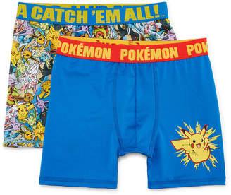 Pokemon Boys Atletic Boxer Briefs 2pk 2 Pair Boxer Briefs Big Kid Boys