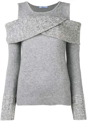 Blumarine cold shoulder wrap jumper