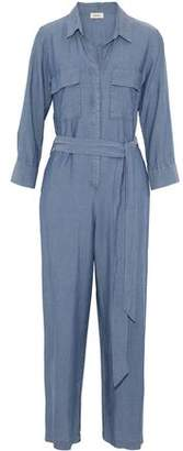 L'Agence Delia Cropped Chambray Jumpsuit