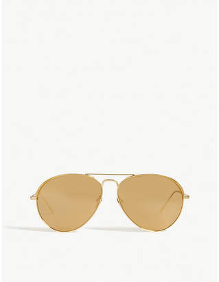 7110bd9b151 at Selfridges · Linda Farrow LFL594 aviator sunglasses