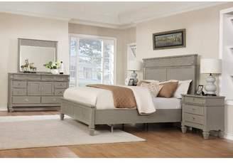 Beachcrest Home Vasilikos Solid Wood Construction Platform 5 Piece Bedroom Set
