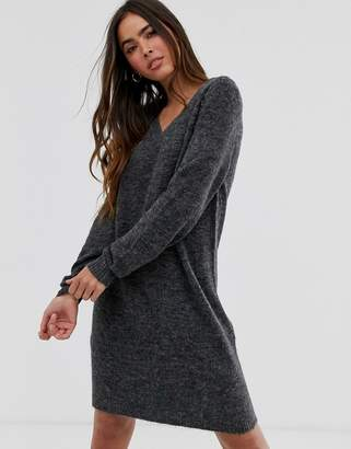 Vila v-neck sweater dress