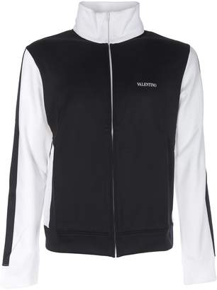 Valentino Two-tone Zipped Jacket