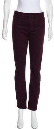 Tory Burch Animal Print Skinny Jeans