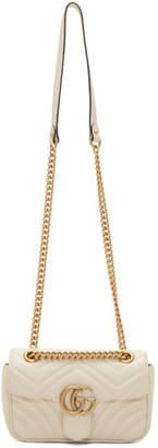Gucci White Mini GG Marmont Chain Bag