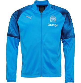 Mens Olympique Marseille Poly Track Jacket Bleu Azur