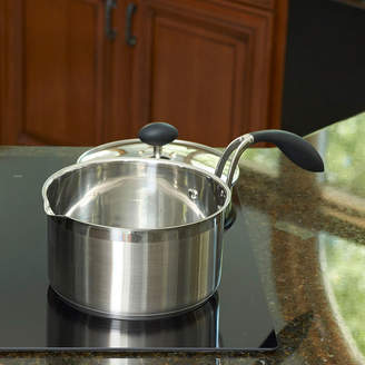 Asstd National Brand Eazigrip 3-Qt. Stainless Steel Non-Stick Covered Saucepan With Ergonomic Handle And Colander Lid