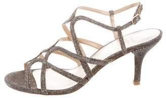 Stuart Weitzman Lurex Ankle Strap Sandals