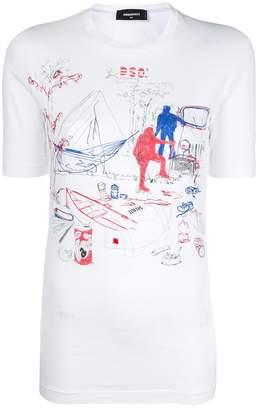 DSQUARED2 doodle print T-shirt
