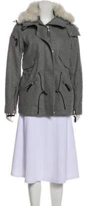 SAM. Fur Trimmed Wool Jacket