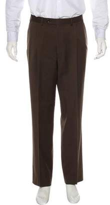 Canali Flat Front Dress Pants