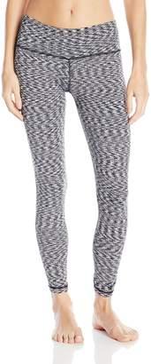 Cuddl Duds Women's Flex Fit Legging, Black/White Space Dye