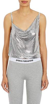 Paco Rabanne Women's Metal Mesh Draped-Front Top