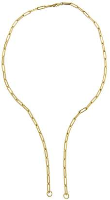 Foundrae Open Classic FOB Clip Chain Necklace - Yellow Gold