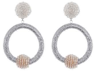 Panacea Wrapped Circle Hoop Earrings