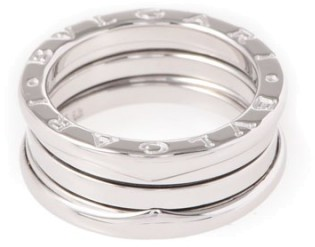 Bvlgari  Bulgari B-Zero1 18K White Gold Band Ring Size 6