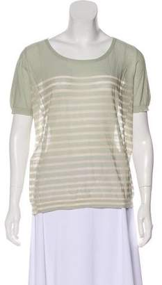 Inhabit Stripe Short Sleeve Top