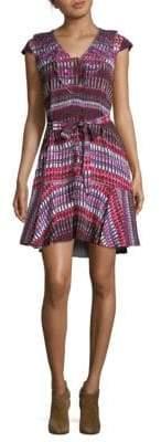 Saloni Printed Fit-&-Flare Dress