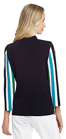 Misook Stripe Carmen Jacket
