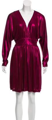 Halston Metallic Mini Dress