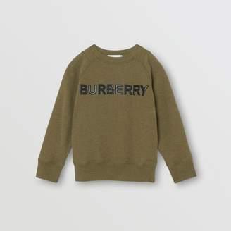 Burberry Childrens Logo Detail Cotton Sweatshirt