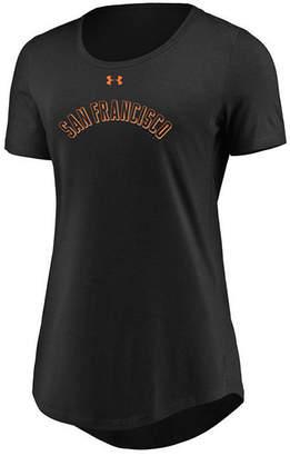 Under Armour Women's San Francisco Giants Team Font Scoop T-Shirt