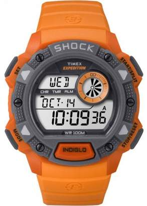 Timex Men's Expedition Base Shock Orange/Gray Watch, Resin Strap