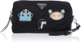 Prada Fabric patched pouch
