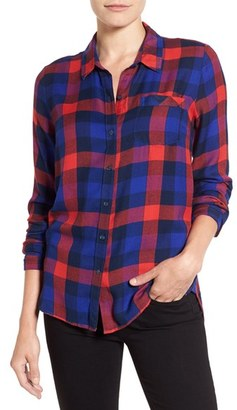 Women's Lucky Brand 'Bungalow Plaid' Button Back Shirt $79.50 thestylecure.com
