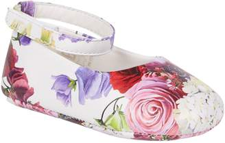 Dolce & Gabbana Floral Ankle Strap Flats