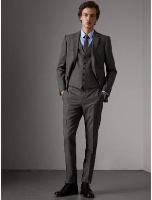Burberry Slim Fit Wool Three-piece Suit