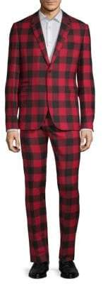 Valentino Gingham Notch Suit
