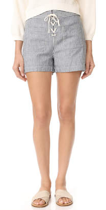 Madewell Lace Up Shorts $70 thestylecure.com