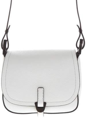 732ceacd0 Coccinelle White Leather Crossbody Bag With Black Piping