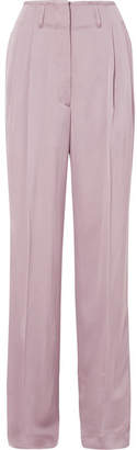 Etro Satin-crepe Wide-leg Pants - Lilac