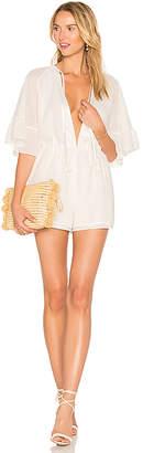 MAJORELLE Hibiscus Romper in White $178 thestylecure.com