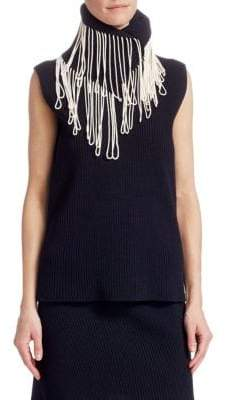 Calvin Klein Sleeveless Fringe-Knit Top
