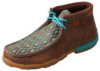 Twisted X Women's Leather Lace-up Rubber Sole Driving Moccasins