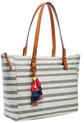 6dbf044586fc Fossil Rachel Tote Handbags Blue Stripe