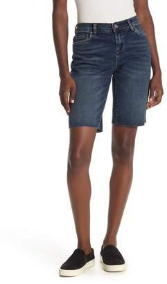 Blank NYC BLANKNYC Denim Fray Hem Bermuda Shorts